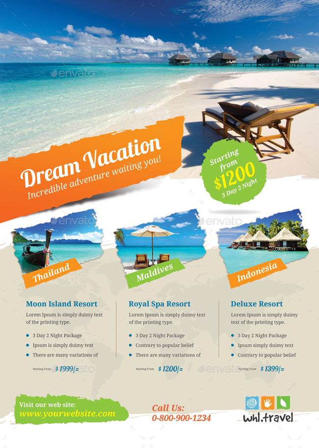 Holiday Travel Vacation Flyer By Themedevisers Graphicriver