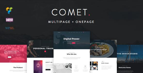 Comet Creative Multi Purpose WordPress Theme By HodyLab