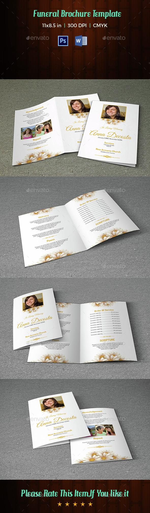 Funeral Program Template-V47 - Informational Brochures