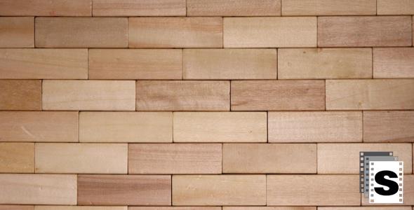 wall of wooden bricks