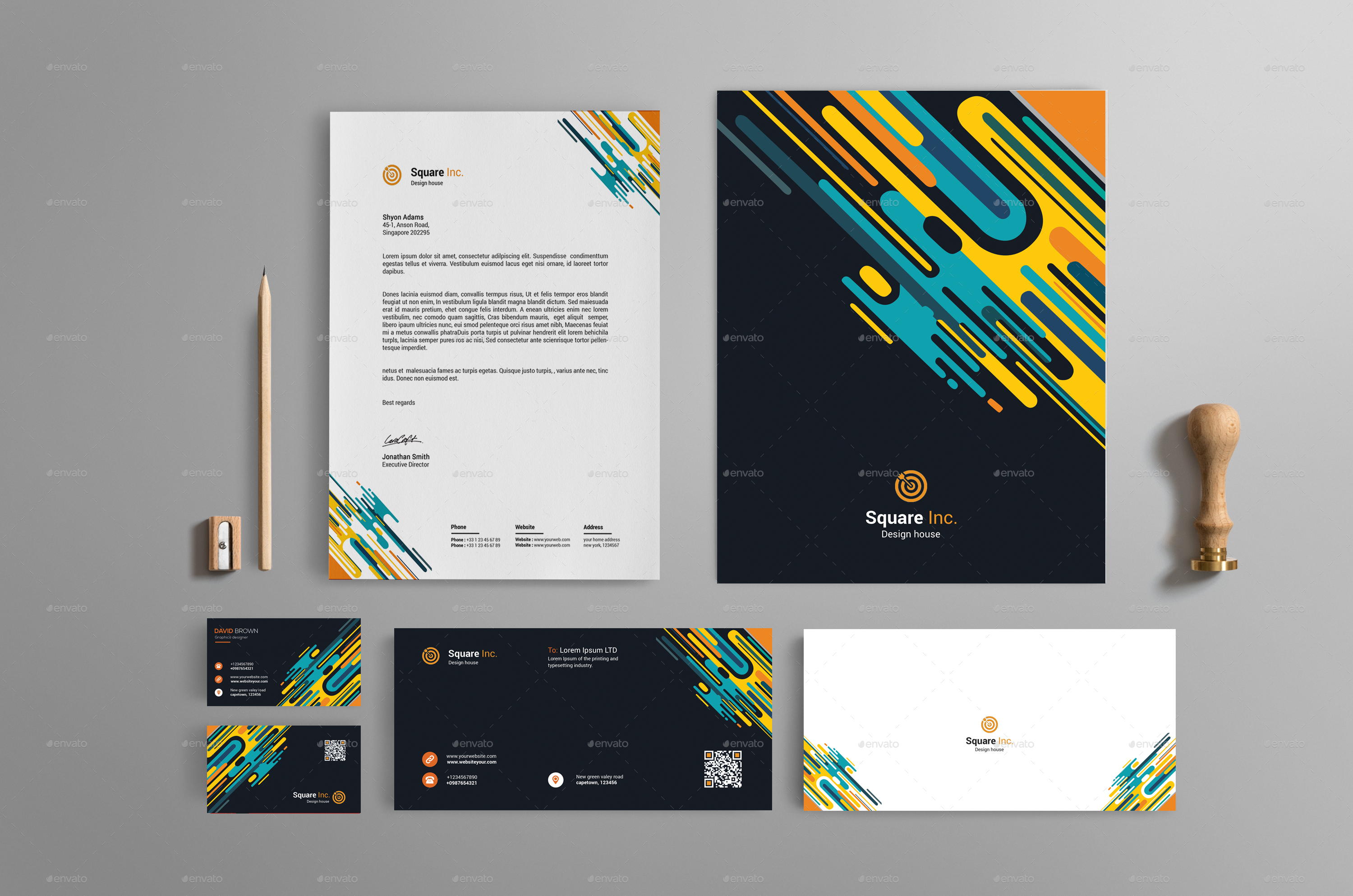 Abstract Brand Identity Design By Warpstreet GraphicRiver