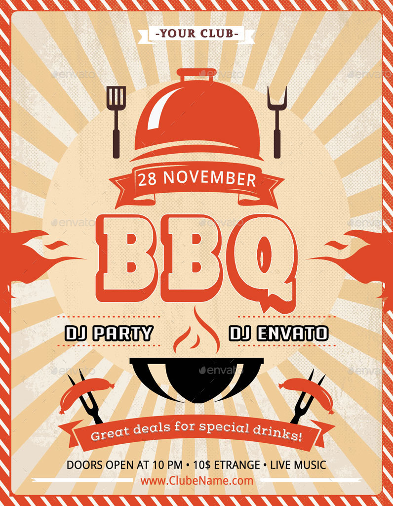 Barbecue BBQ Party Flyer By Oloreon GraphicRiver