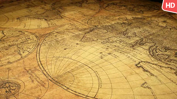 Vintage Old Map 0096 by motion5  VideoHive