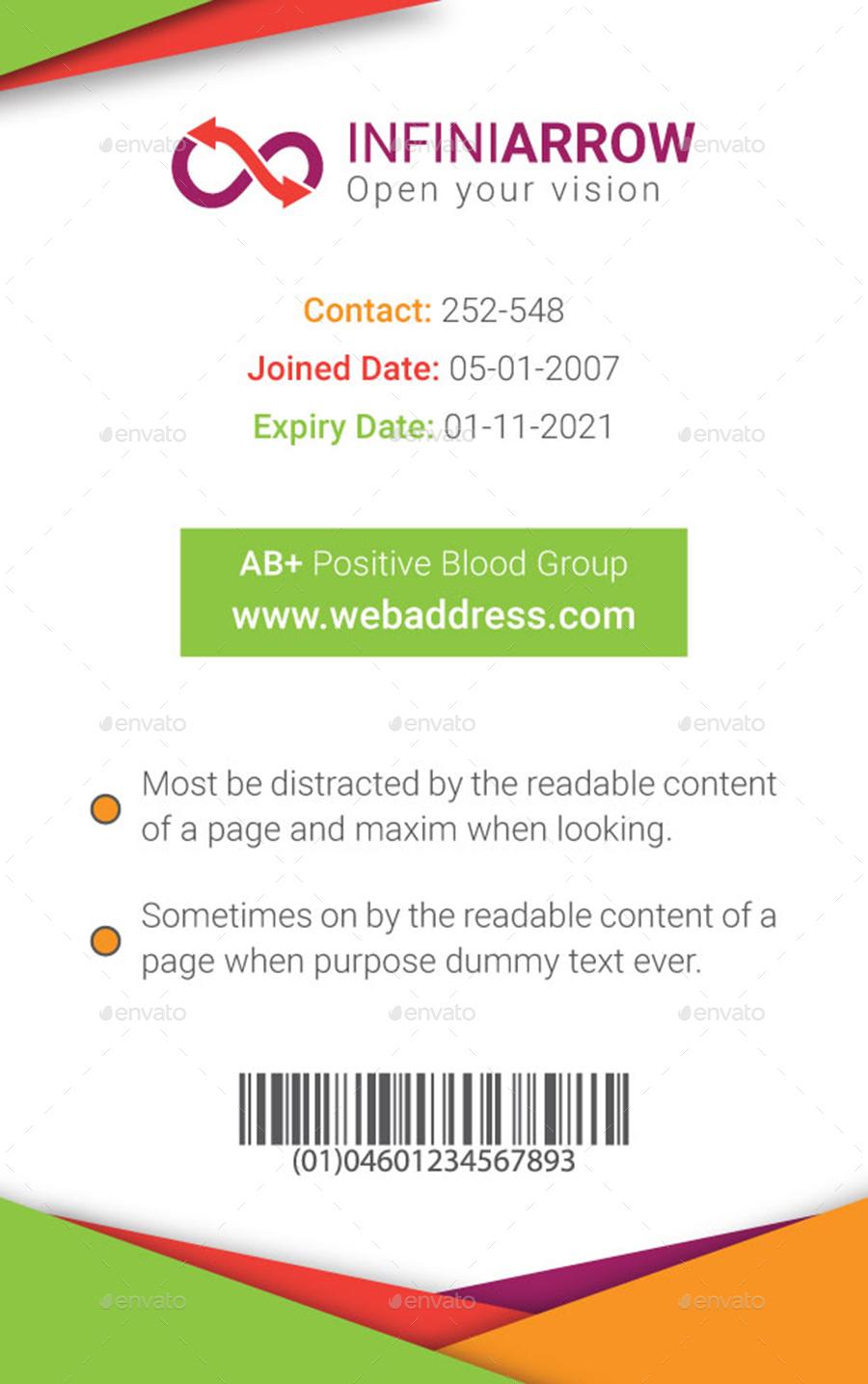 medium resolution of multipurpose business id card template