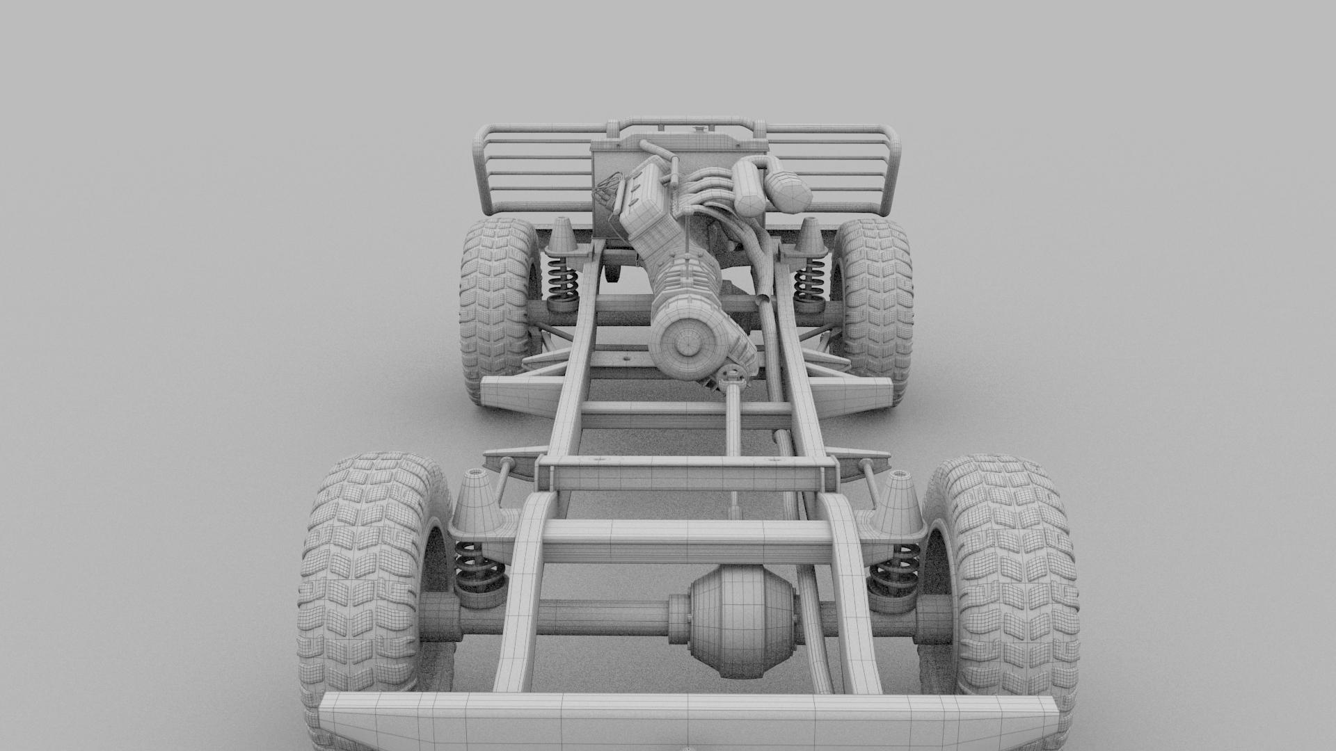 Full Land Rover Defender 90 Pick Up HDRI by dragosburian