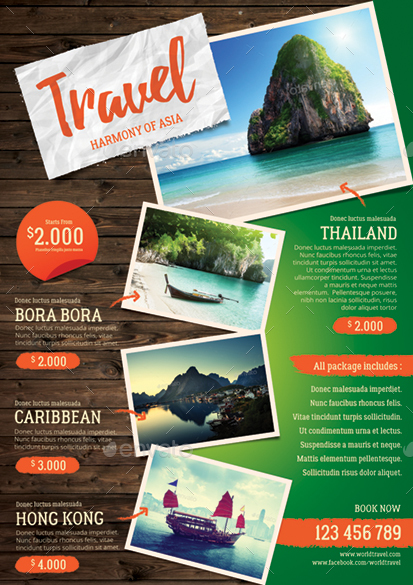 Travel Agency Flyer by monggokerso  GraphicRiver