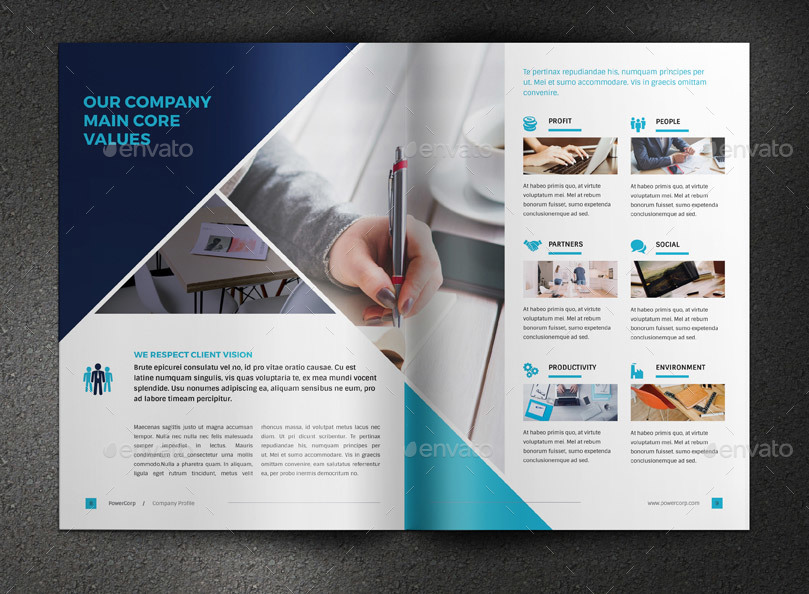 PowerCorp Business Brochure Corporate Profile By Sabin