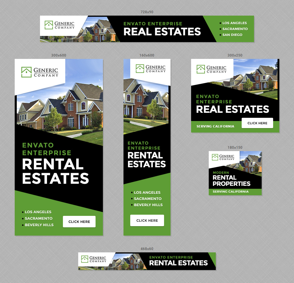 Real Estate Property Banners HTML5 Ads By InfiniWeb