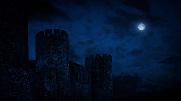 Niagara Falls At Night Wallpaper Hd Castle Wall At Night With Full Moon By Rockfordmedia