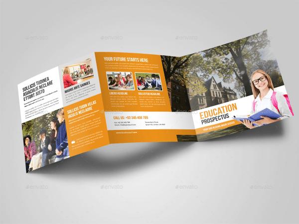 Education Square Trifold Prospectus Brochure Miyaji75