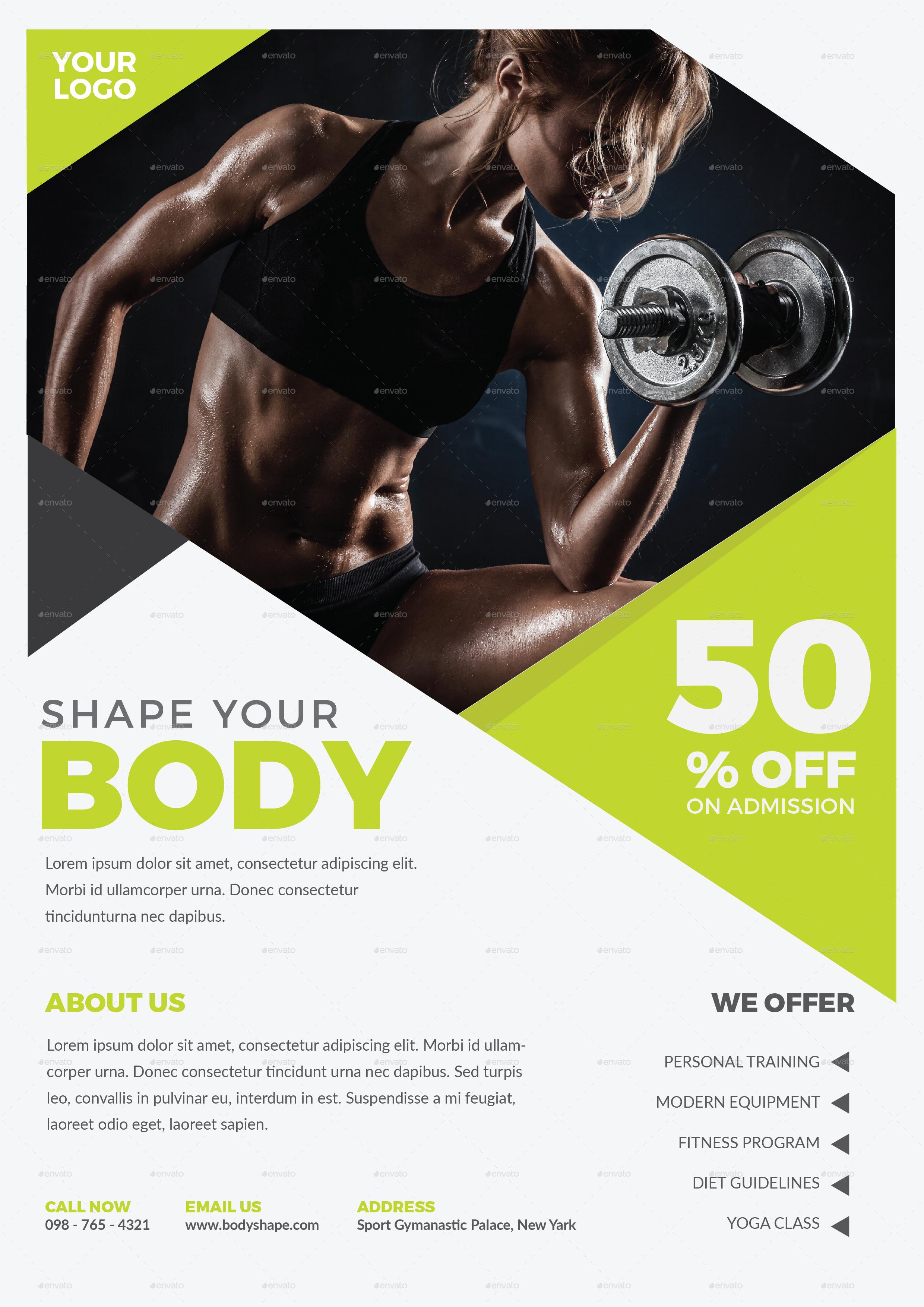 Fitness Flyer by tokosatsu   GraphicRiver