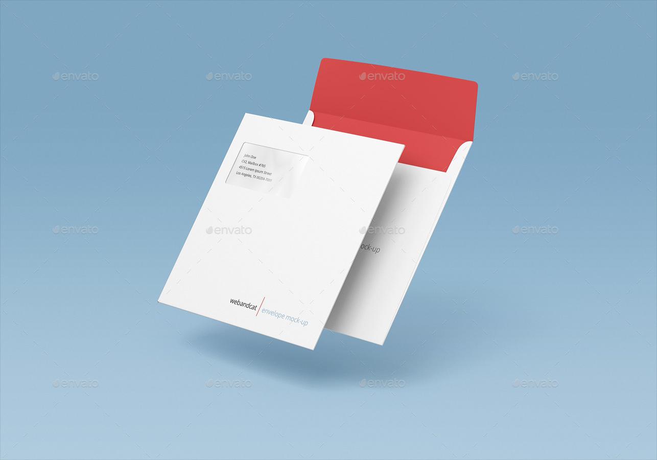 Square Envelope Mockup by webandcat  GraphicRiver