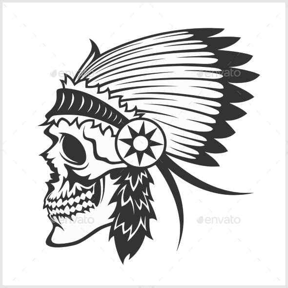 Native American Indian Chief Headdress by Digital-Clipart