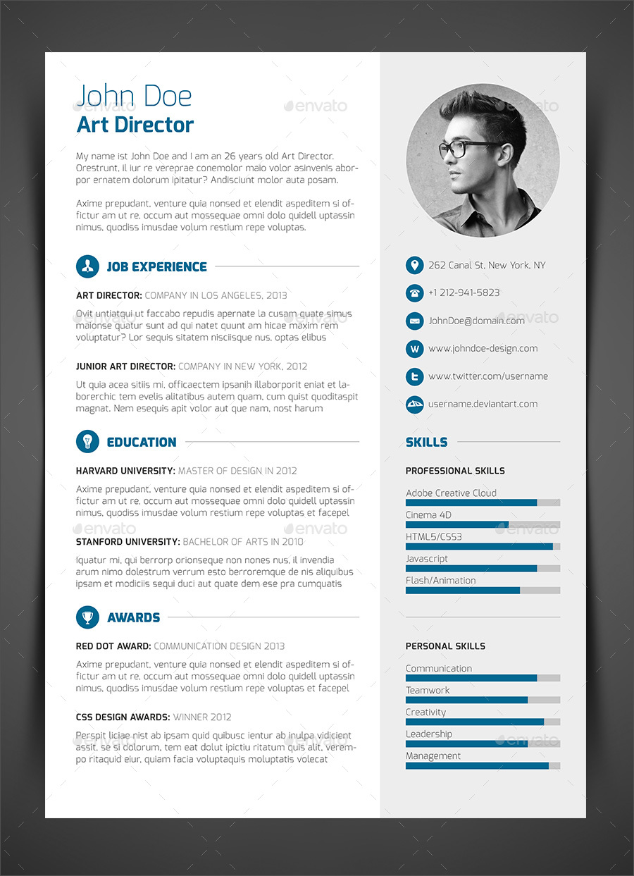 3Piece Resume CV Cover Letter by bullero  GraphicRiver