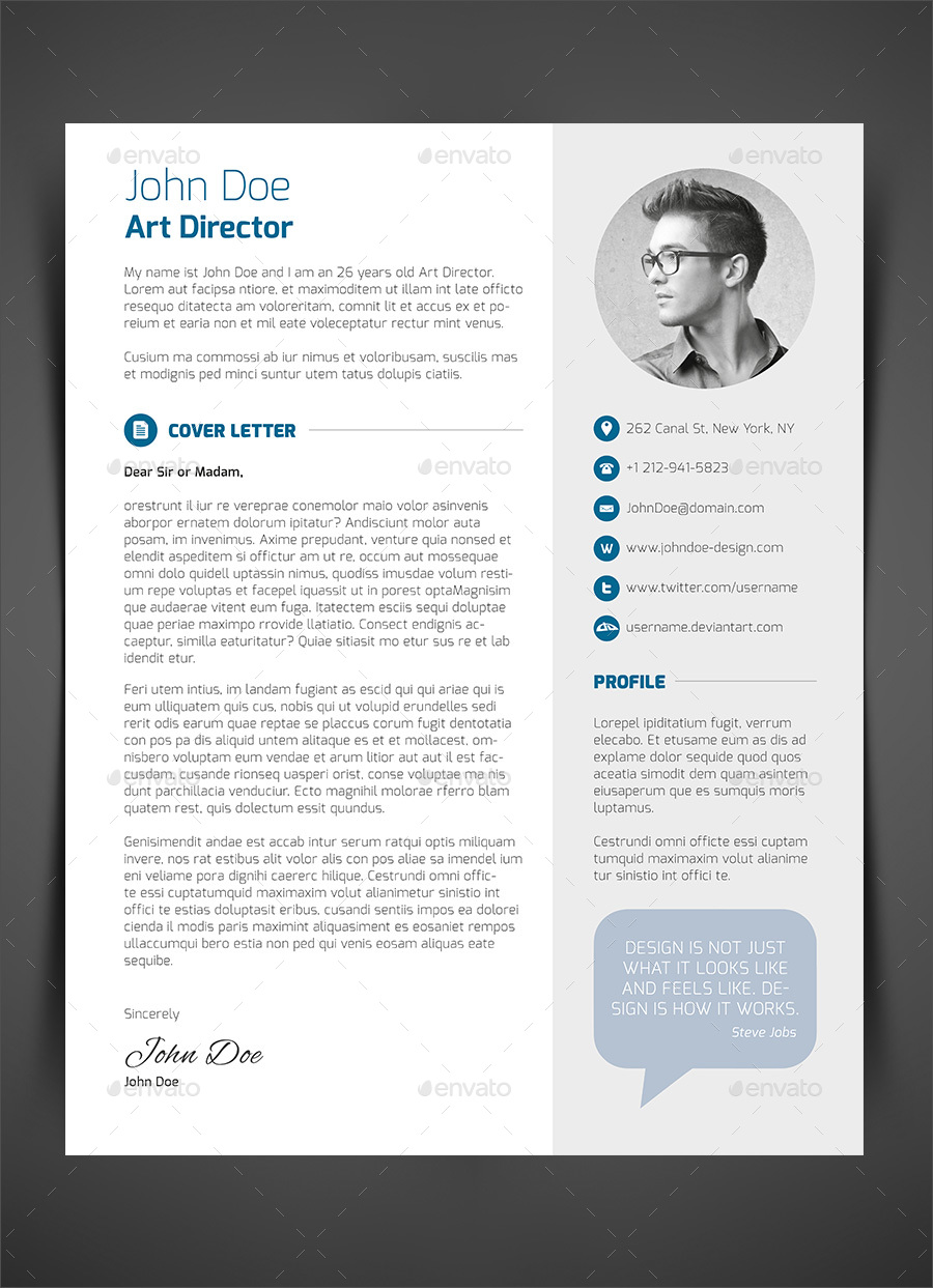3 piece resume cv cover letter free