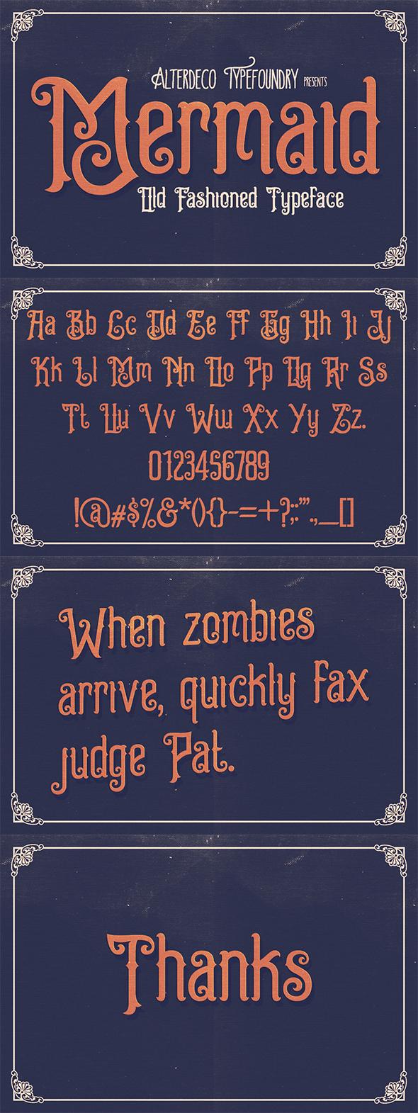 Free Font Mermaid Typeface Download