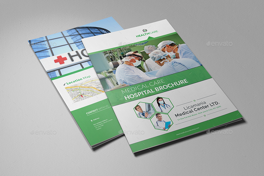 Medical Center  Hospital Brochure Template by AlMamun