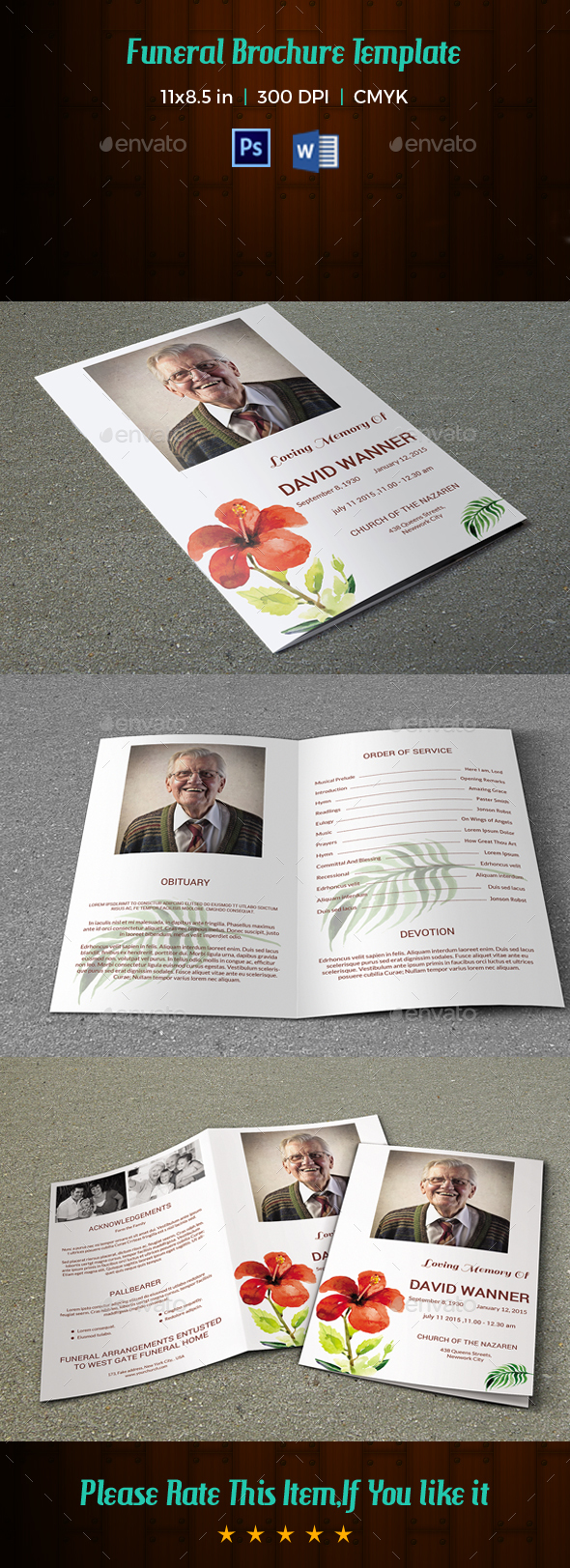 Funeral Program Template-V101 - Informational Brochures