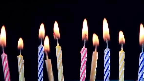 birthday candles burning