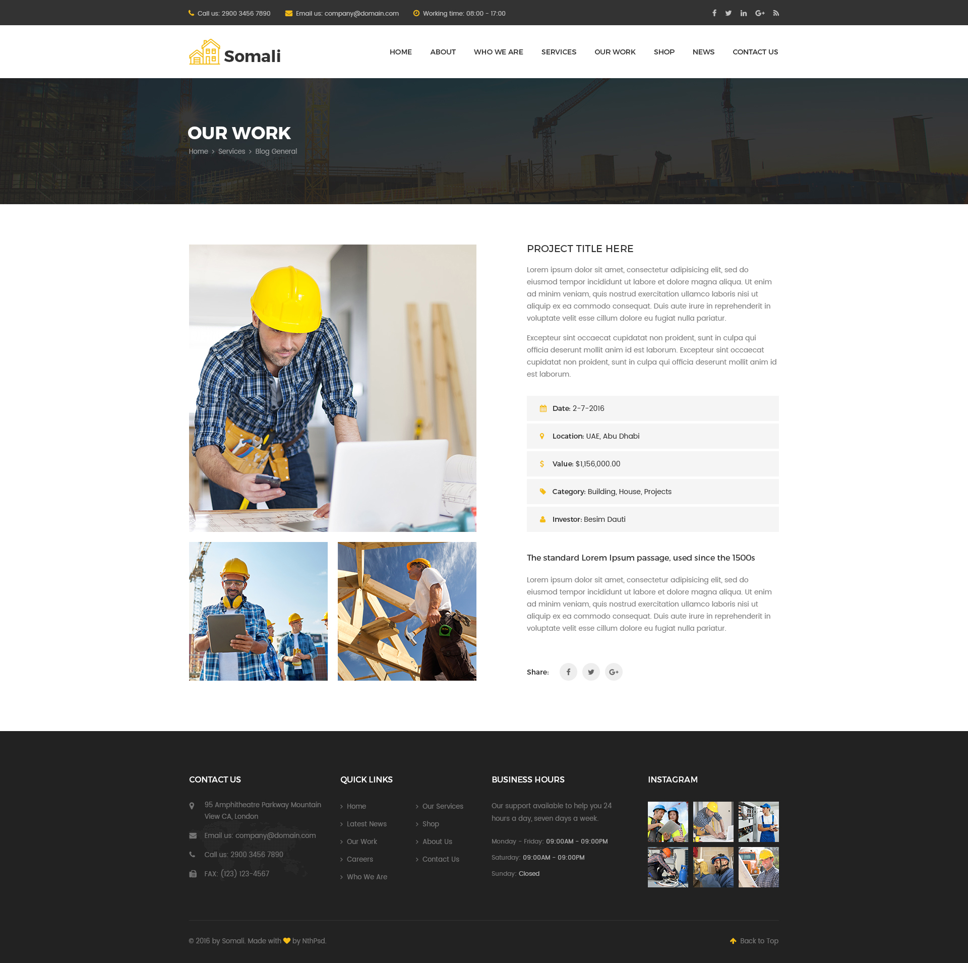 Somali - Construction PSD Templates by zozo-studio | ThemeForest