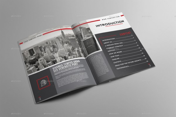 "Corporate Brochure Template ""company Profile"""