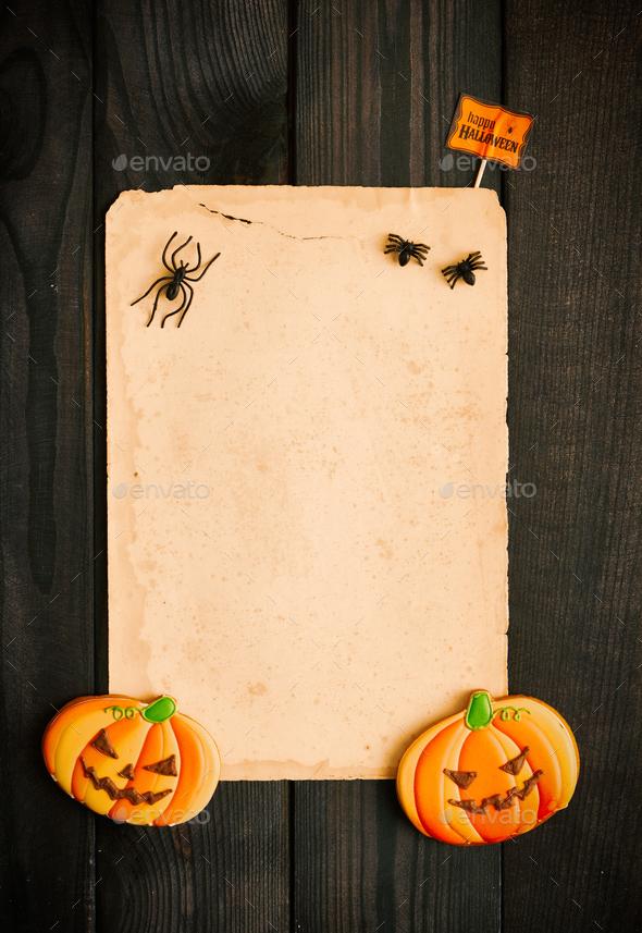 https photodune net item halloween invitation over wooden background 17681122