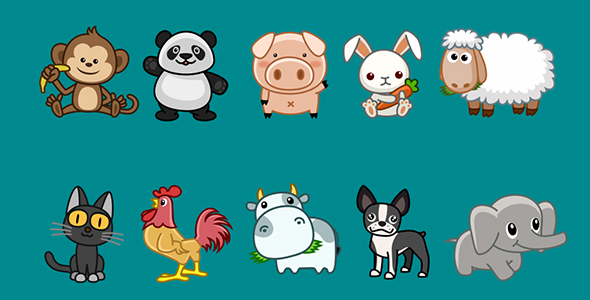 cartoon animals animation pack