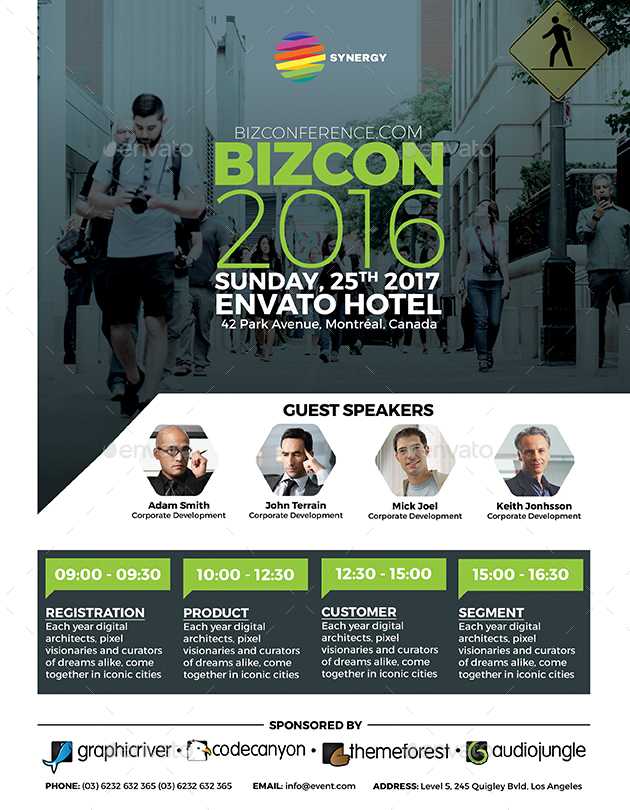 Business Conference Flyer by inddesigner  GraphicRiver