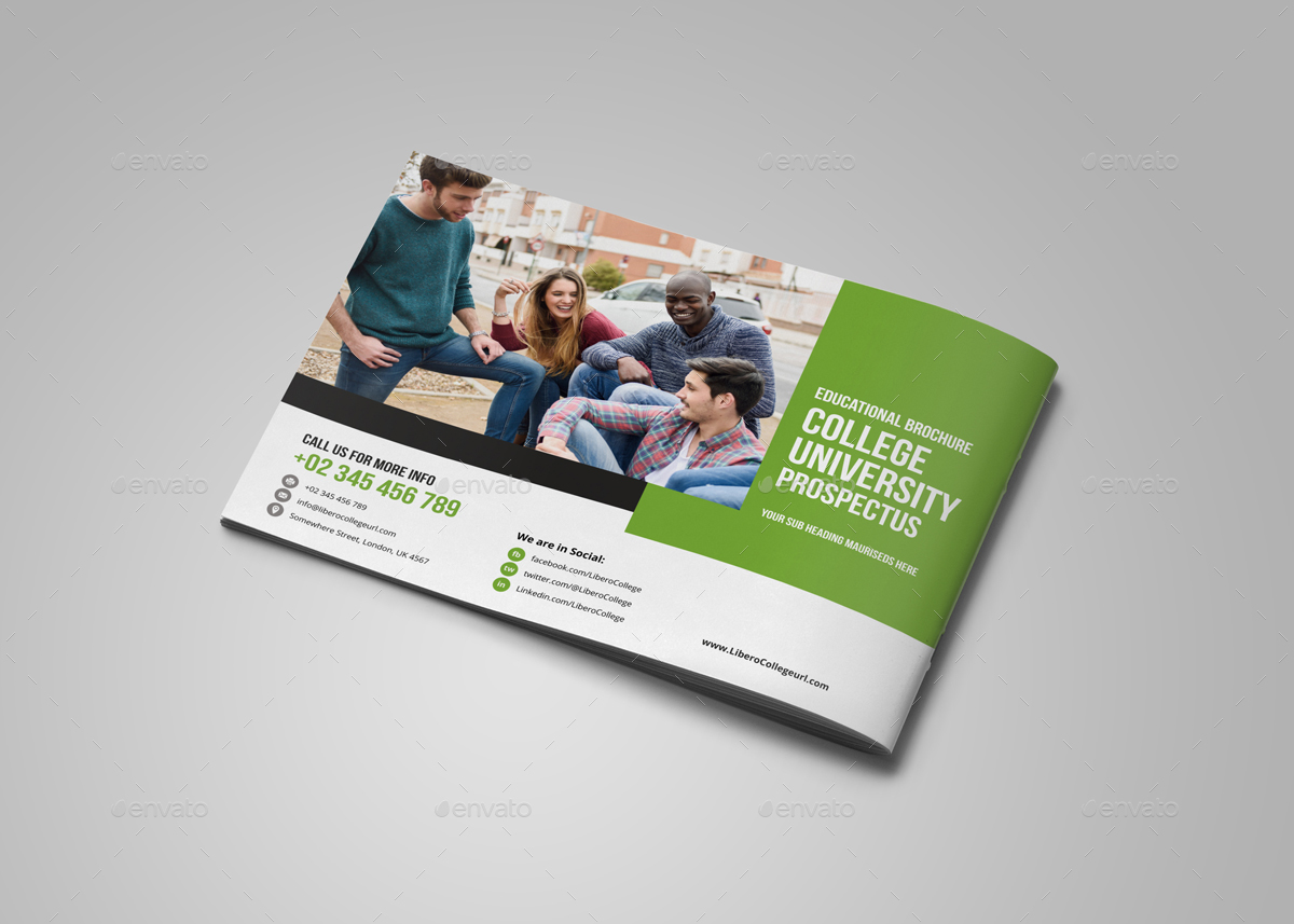 College University Prospectus Brochure Design V2 By
