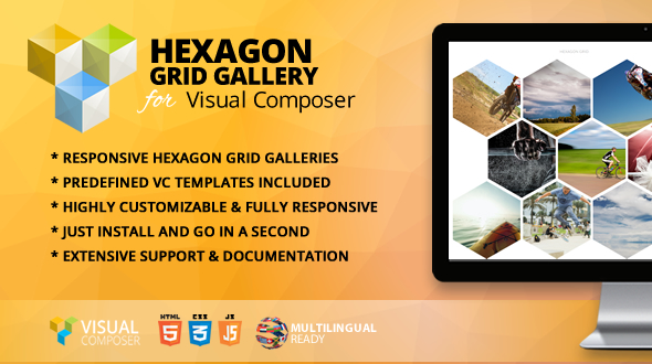 hexagon grid gallery addon for wpbakery page builder formerly visual composer by themeofwp