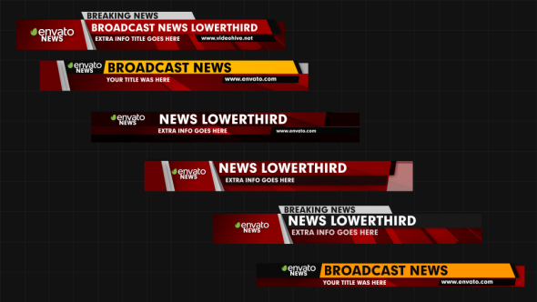 News Lower Thirds By Graysolid VideoHive