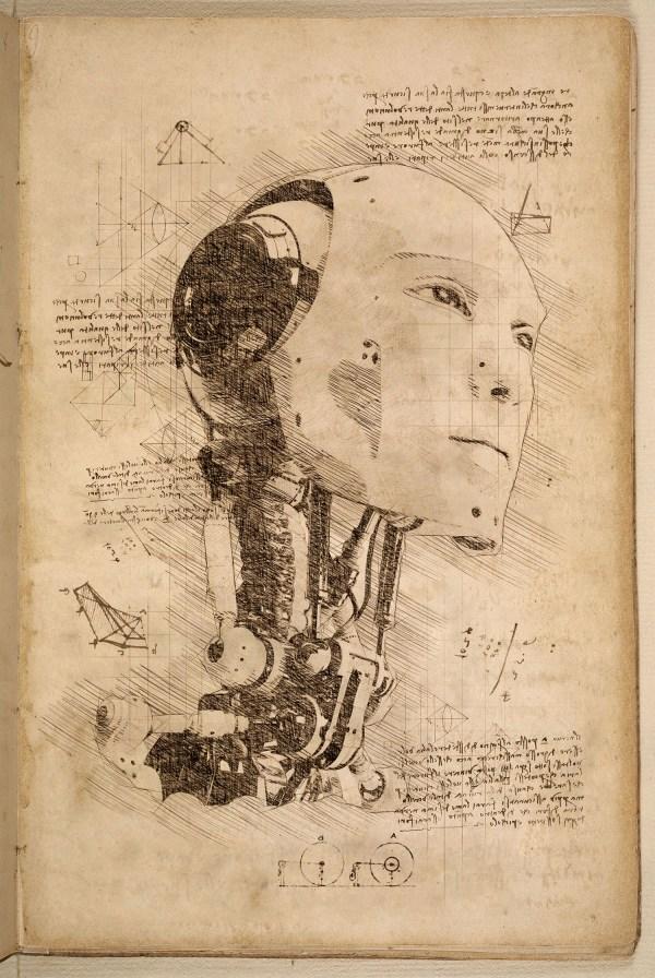 Da Vinci Style Sketch Action Indworks