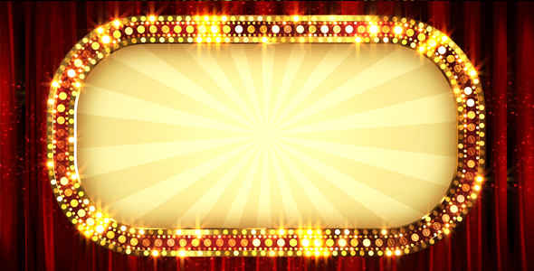 Retro Light Banner Frame By As 100 Videohive