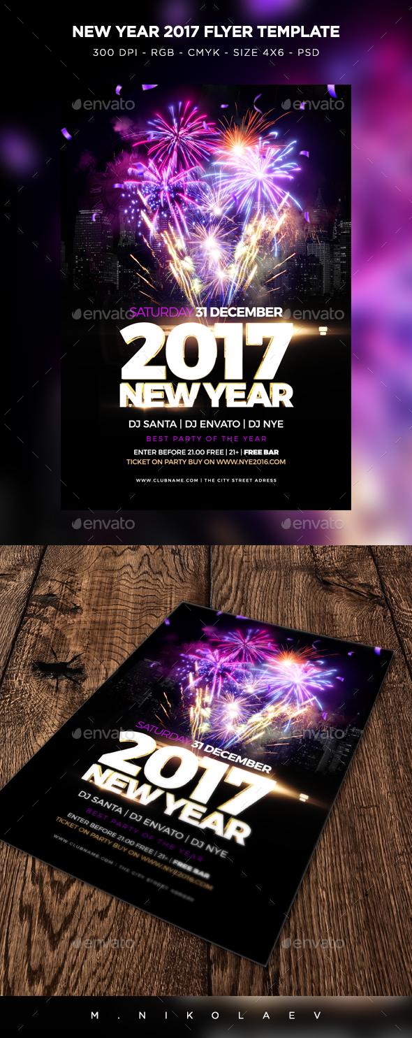 Psd Vertical Flyer. New Year