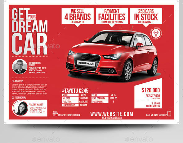 car dealer flyer magazine
