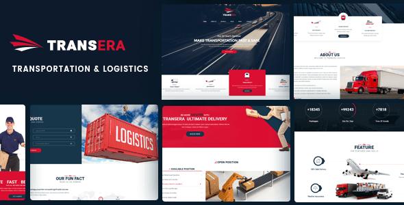 Logistics WordPress Theme   Logistics WP Transera (Logistics, Transportation, Cargo)