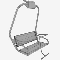 Ski Chair Lift Round Table 6 Chairs Set Small By Kr3atura 3docean