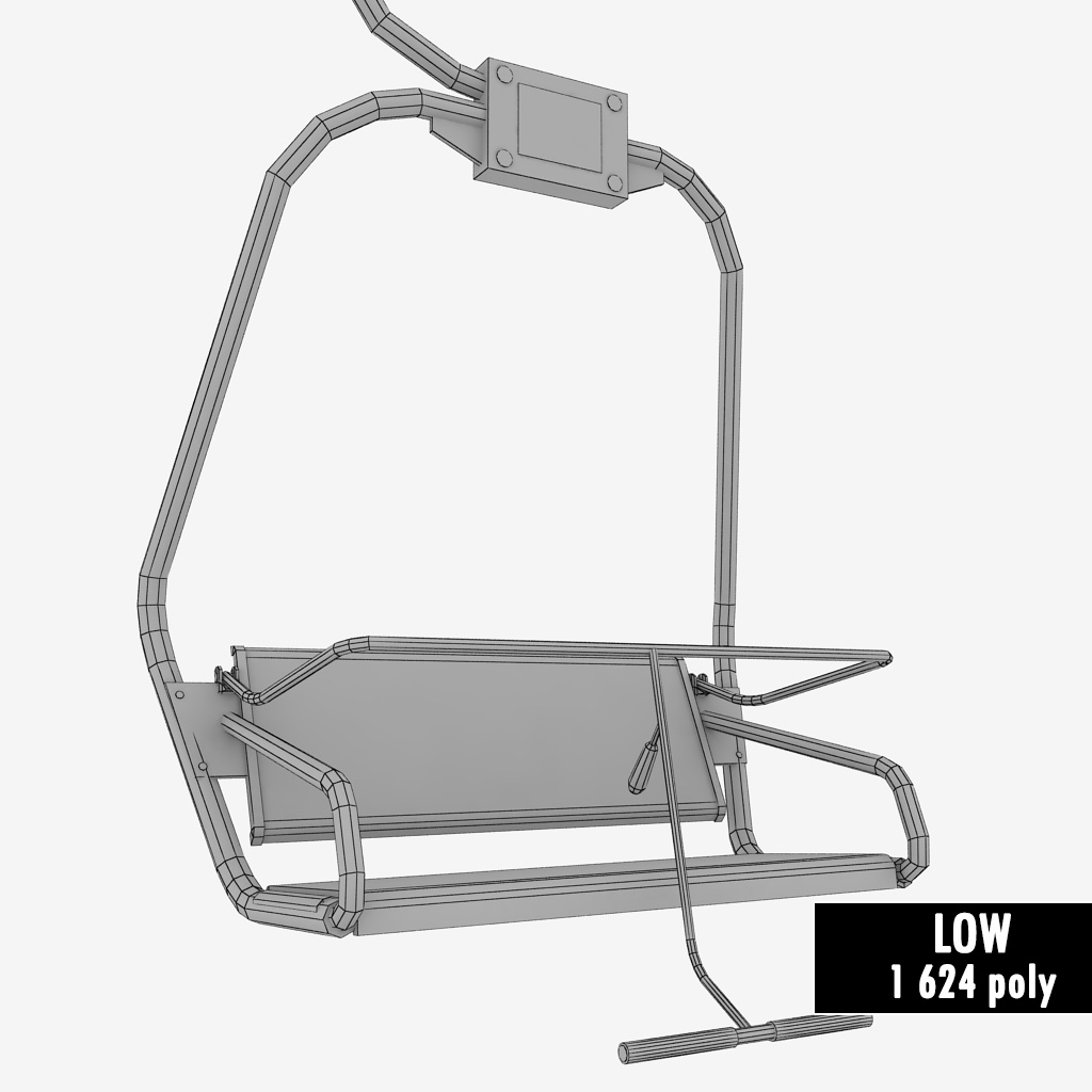 ski chair lift parsons chairs with arms small by kr3atura 3docean