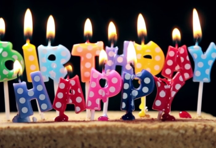 Lighted Candles On A Birthday Cake By Olegdoroshin Videohive