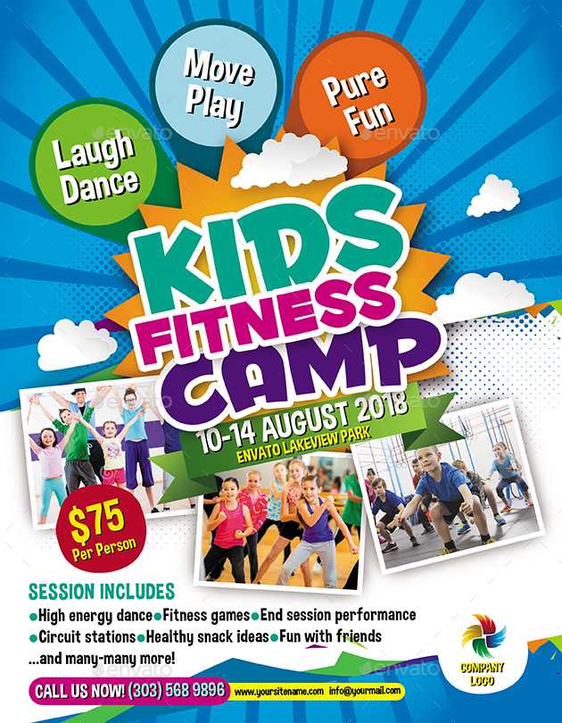 Kids Fitness Camp Flyer By Inddesigner GraphicRiver