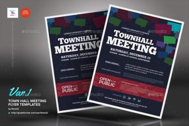 meeting town hall flyer templates graphic screenshots kinzi21