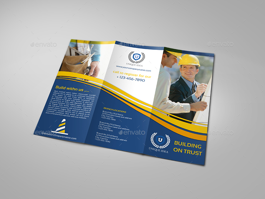 construction company brochure examples