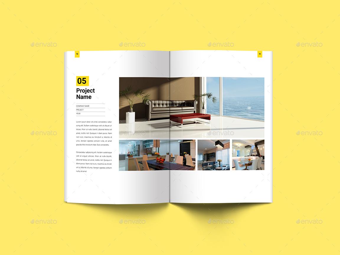 Minimal Interior  Architecture Portfolio by Guuver  GraphicRiver