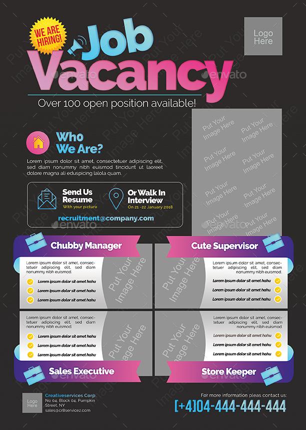 Job Vacancy Flyer by shamcanggih  GraphicRiver
