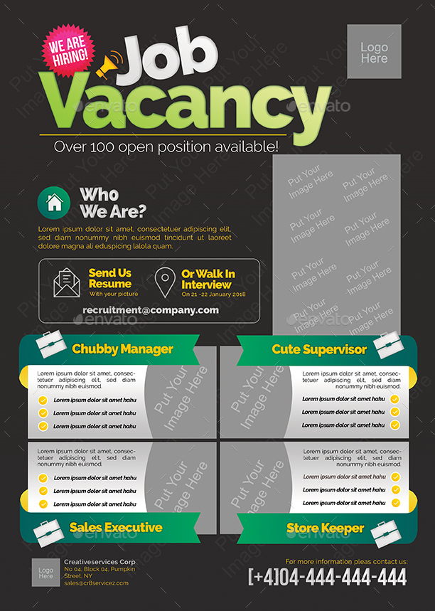 Job Vacancy Flyer By Shamcanggih GraphicRiver