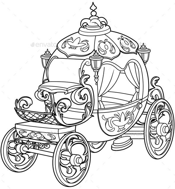 Cinderella Fairy Tale Pumpkin Carriage by Dazdraperma