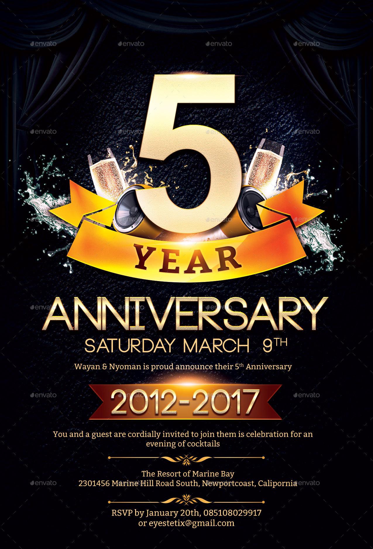 Anniversary Flyer By EyestetixStudio GraphicRiver