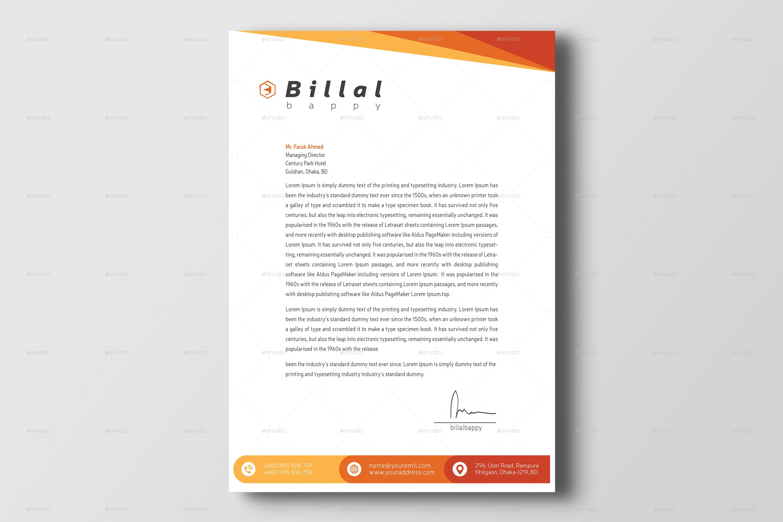 Corporate Letterhead by billalbappy  GraphicRiver