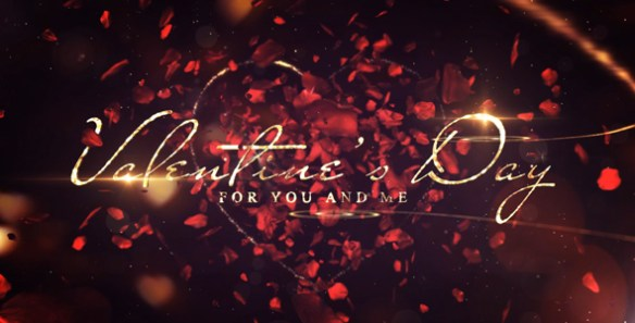Valentines Day Message Romantic Video With Animated Rose Petal Transitions