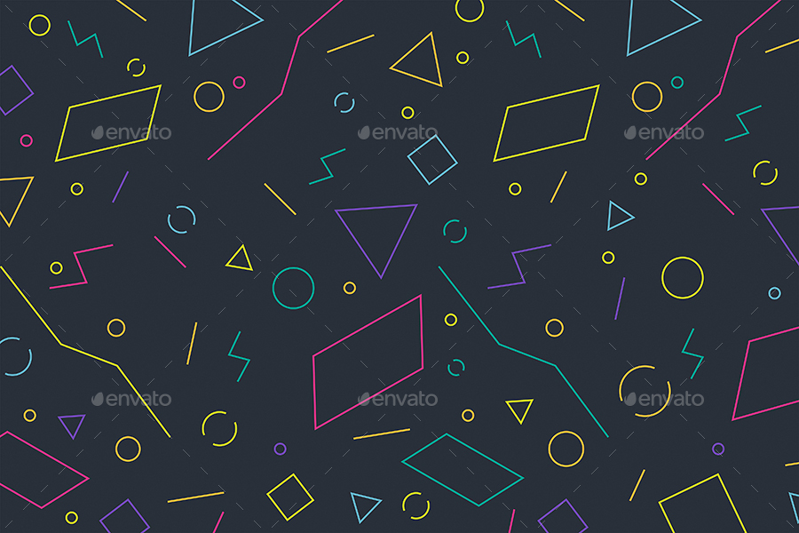 Abstract Linear Geometric Shapes Backgrounds by themefire